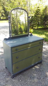 Freshly Restored and Painted Antique Dresser