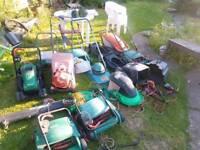 Job lot of gardening equipment ..Lawn mower leaf blower + gardening equipment