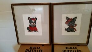 Needlepoint framed pictures for sale