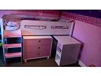Kimbo Mid Sleeper (Pink and White)