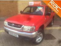 TOYOTA HILUX EX 4WD double cab with gas top lift (red) 2003