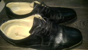 Men's leather dress shoes.