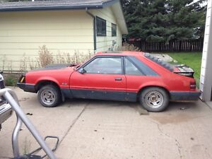 **REDUCED BY 50%** 1985 Ford Mustang Parts Car