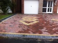 block paving flagging turfing fencing brickwork indian stone drains gates railings all fitted