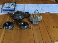 Retro tea and cruet set