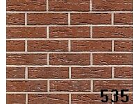 12 BRICK-TILE-PANELS Red deep pitted/sanded ref. RF335,