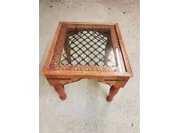 Beautiful Solid Indian Sheesham Rosewood coffee / side / lamp table 50cm x 54 cm x 46cm (h)