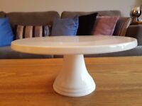 White Bone China Cake Stand - 30cm wide - House of Fraser