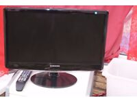 TELEVISION SAMSUNG 22 INCH HD, LCD BLACK GLOSS WITH TELETEXT AND REMOTE, AS NEW CAN DELIVER