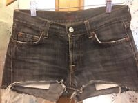 FABULOUS, VERY FLATTERING ALL MAN KIND DENIM SHORTS, SIZE 27