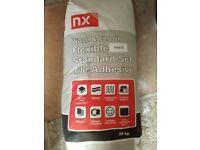 Norcros NX flexible wall & floor tile adhesive White 20kg.