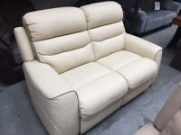 La z boy 2 seater leather sofa. ( new )