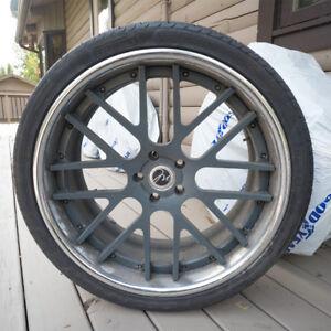 Modular Forged Split Rims w/ Pirelli Scorpion Zero Tires X4