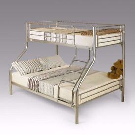 *NEWLY ARRIVED*Brand New Single Double Triple Sleeper Metal Bunk Bed Frame with choice of mattresses