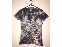 One of a kind, hand dyed, tie dye ladies t-shirt