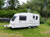 Bailey Pagent Majestic 2 berth light caravan with awning