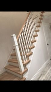stairs, hardwood and laminate installation