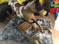 Wooden Solid Rocking Horse Handmade