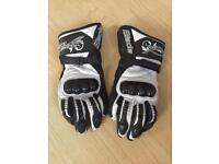 Ladies RST Leather Motorcycle Gloves M