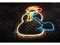 Snowman multi colour Xmas Decoration