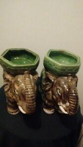 Pair of Decorative Porcelain  Elephant Statue