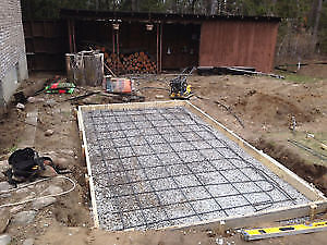 Hot tube ..Sheld concrete pads
