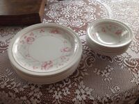 7 dinner plates with matching bowls