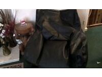Black Leather Beanbag Chair