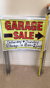 2-Sided GARAGE SALE SIGNS (qty 21) - Very Effective! Rain Proof!