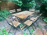 Garden 4 seater dining set BRAND NEW (table + 4 chairs)