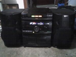 Vintage 1997 Sony Mini HiFi Stereo Component System