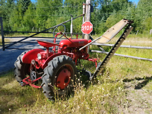 Cub tractor with mower