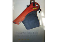 FLYMO GARDEN VACUM AND BLOWER WITH COLLECTION BAG AND INSTRUCTIONS
