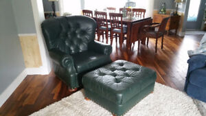 Big Leather Chair and Ottoman