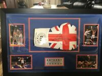 Anthony Joshua Signed Glove in frame