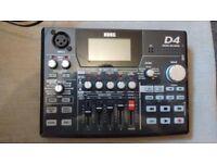 Korg D4 multitrack 4 track digital recorder