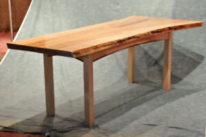 Maple Live Edge Dining Table, Conference Table
