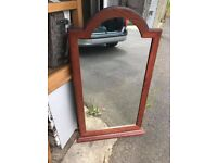 Solid Wood Hall Mirror