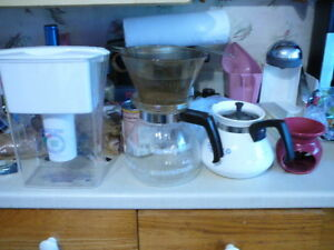 Brita Water Filter, Coffee decanters
