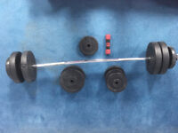 Set of heavy weights + bar