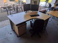 FULL SET OF OFFICE FURNITURE COMPLETE