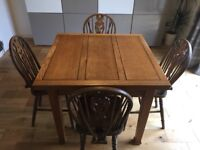 Square Extending Dining Table & 6 Chairs