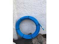 Blue Outside 25mm plastic pipe 25metres, brand new.