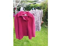 Size 18 ladies clothes bundle, 2 tops and a coat