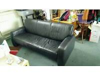 Leather style sofa