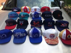 Very rare snap back sports large hat collection