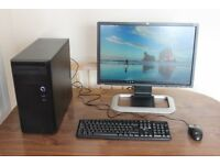 Gaming PC - Core i5, 8GB Ram, RX 460 Graphics, SSD, HDD, Win 10, 22inc HP Monitor