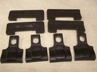 thule roof rack parts 107 and 70 for attaching to car