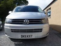 VW T5 kombi 2.0TDI 5 speed ready for camping rock and roll bed, . Or use as 5 seat day van.