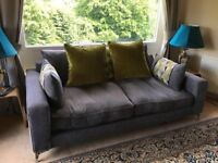 Sofology 3 seater sofa and swivel chair
